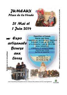Affiche marché artisanal de Jumeaux 2014