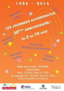 Affiche des Journées Auvergnate 2014 à Issoire