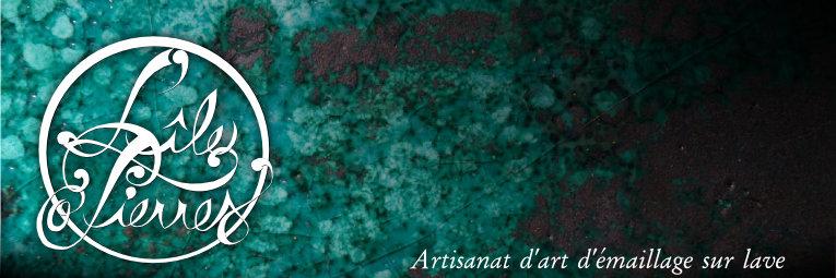 L'île o Pierres - artisanat d'art d'émaillage sur lave à Montpeyroux