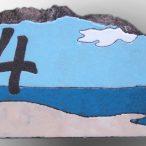 Numéro de maison en lave émaillée
