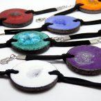 Bracelets en lave émaillée