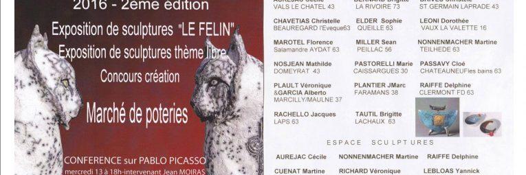Programme de la seconde édition des Journées Céramique à Montpeyroux