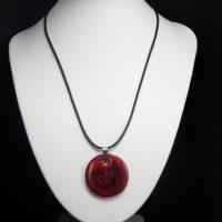 Collier lave émaillée collection cristal rouge