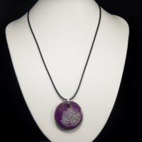Collier lave émaillée collection cristal violet
