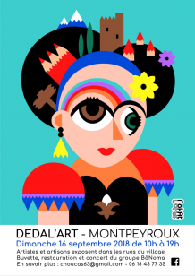 Affiche Dedal'Art 2018 (crédit Nokat)