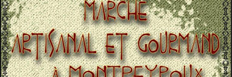 Marché artisanal et gourmand à Montpeyroux les 18 et 19 mai 2019 (L'Échoppe Art'isanale et Les Choucas)