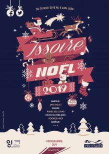 Affiche des animations de Noël 2019 à Issoire
