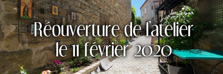 L'atelier L'île o Pierres à Montpeyroux ouvre à nouveau le 11 février 2020