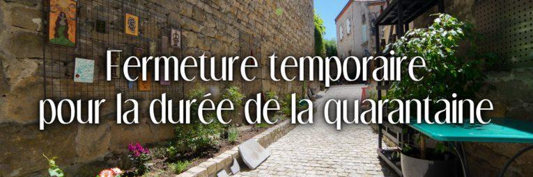 L'atelier L'île o Pierres à Montpeyroux est fermé au public pour la durée de la quarantaine