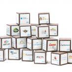 Cubes décoratifs en lave émaillée pour Engie (photo Pierre-Alain Heydel)