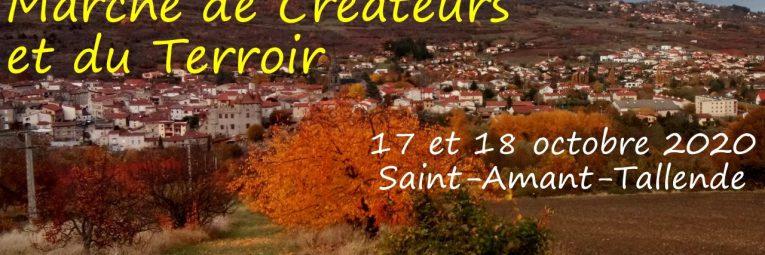 Marché de Créateurs et du Terroir, les 17 et 18 octobre 2020 à Saint-Amant-Tallende.