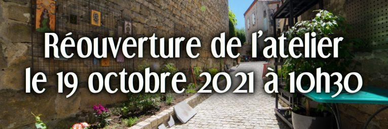 Fermeture de l'atelier - boutique à Montpeyroux jusqu'au 19 octobre 2021